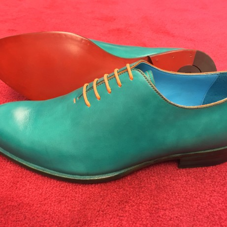 turquoise-whole-cut-shoes-hand-coloured-red-carpet-Dominique-Saint-Paul-Saigon-Ho-Chi-Minh-City-Vietnam