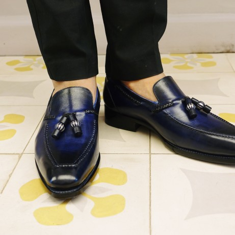loafers-Dominique-Saint-Paul-tassel-loafer-shoes-Goodyear-welted-hand-colouring-patina-emblematic-style