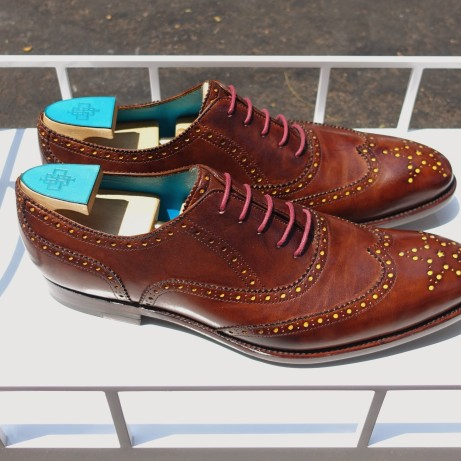 Full-brogue-shoes-patina-hand-coloured-Goodyear-welted-Dominique-Saint-Paul-Saigon-Ho-Chi-Minh-City-Vietnam