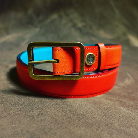 Dominique-Saint-Paul-hand-coloured-belts-leather-patina
