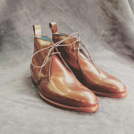 Dominique-Saint-Paul-chukka-boots-Goodyear-welted-patina-hand-colouring