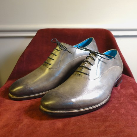 Dominique-Saint-Paul-grey-hand-coloured-Oxford-shoes-Goodyear