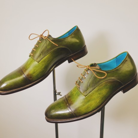 Dominique-Saint-Paul-cap-toe-derby-shoes-goodyear-welted-rtw-ready-to-wear-hand-coloured-patina
