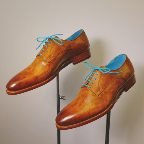 Dominique-Saint-Paul-classic-derby-shoes-Goodyear-welted-patina-hand-coloured