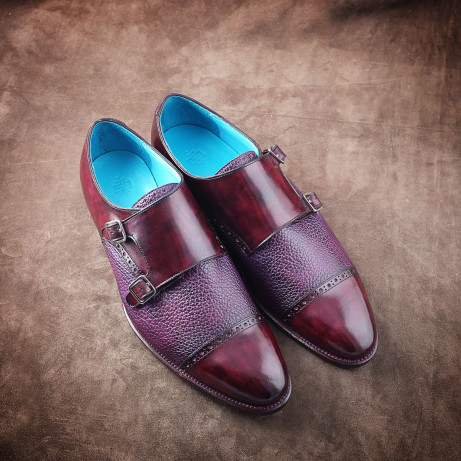 Dominique-Saint-Paul-double-monk-shoes-pebble-grain-saigon-ho-chi-minh-city-vietnam-goodyear-welted-ready-to-wear-made-to-order-rtw-mto