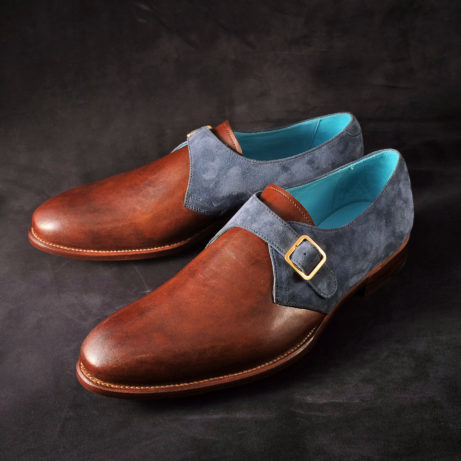dominique-saint-paul-single-monk-shoes-monks-Goodyear-welted-hand-coloured-crust-leather-patina-suede